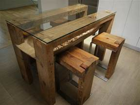 wooden kitchen island table reclaimed wood dining table glass top reclaimed wood kitchen