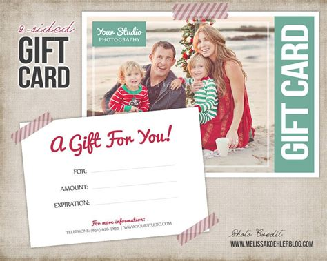 gift card template digital gift certificate photoshop
