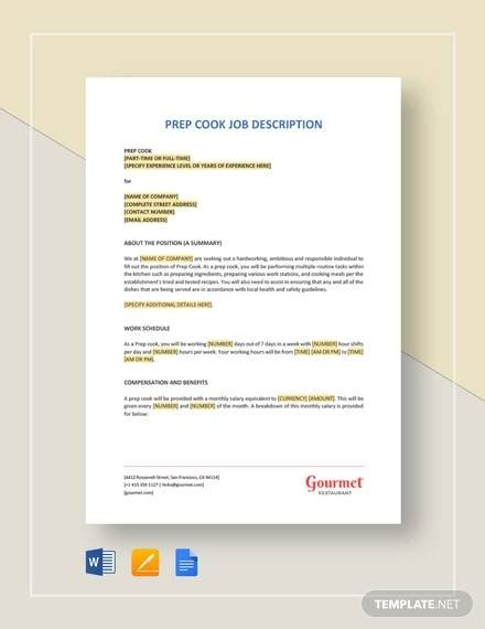 sample job description  documents   word