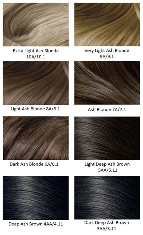 Hair Color Chart by Best 25 Hair Color Charts Ideas On Garnier