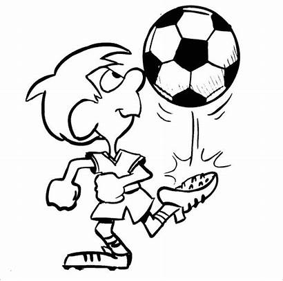 Coloring Soccer Pages Football Boy Boys Printable