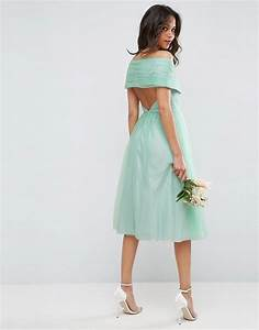 asos wedding robe mi longue en tulle vert With robe mi longue asos