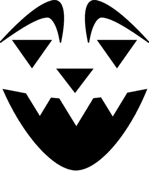 happysmile pumpkin face  pumpkin carving template