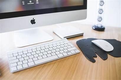 Computer Office Desk Laptop Keyboard Space Apple