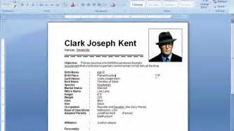 professional resume template microsoft word 2007 ms word tutorial how to insert picture in resume youtube