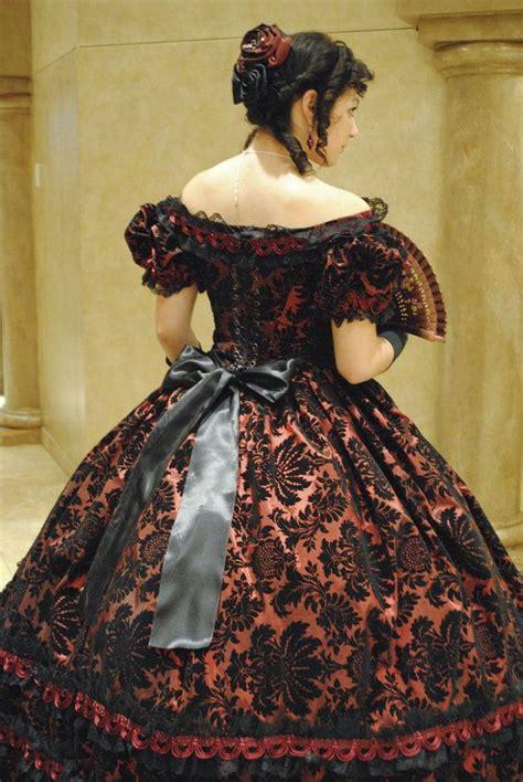 custom reserved purple victorian civil war taffeta ball