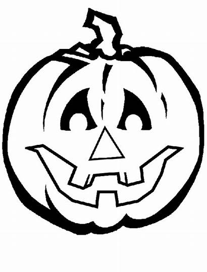 Pumpkin Halloween Coloring Pages Drawing Creepy Printable