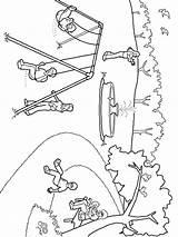 Colorear Dibujos Recreo Patio Imprimir Gratis Playground sketch template