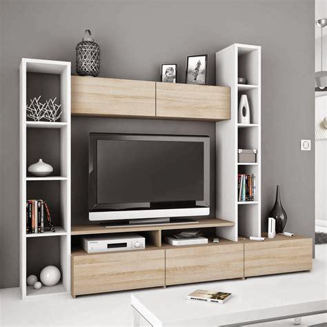 meuble tv chambre meuble tv avec colonne de rangement solutions pour la