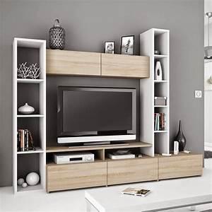 Meuble Tv Avec Etagere : meuble tele rangement id es de d coration int rieure french decor ~ Teatrodelosmanantiales.com Idées de Décoration