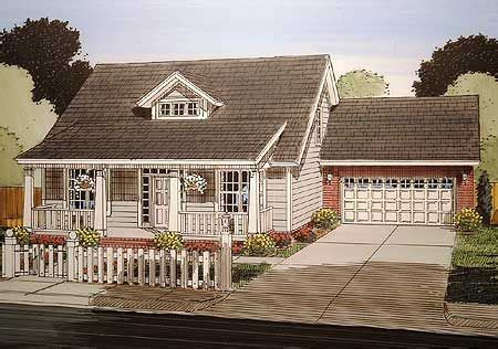 plan wm  bed bungalow  attached garage   craftsman style house plans cottage