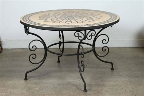mosaic outdoor dining table moroccan outdoor round mosaic tile dining table on arts