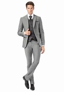Costume gris mariage costume de marie gris avec gilet for Robe de mariage civil avec bijoux argent homme
