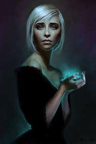 Dark Digital Art Female Portrait Hair