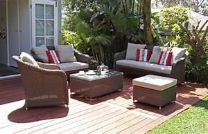 Lounge Sofa Outdoor : kubu sofa outdoor lounge 3 piece suite ~ Frokenaadalensverden.com Haus und Dekorationen