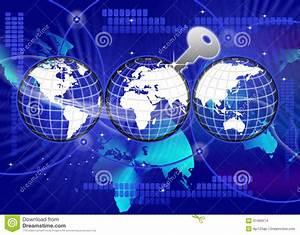Secure Global World Technology Key Stock Illustration ...