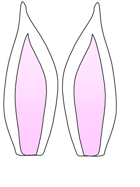 Template For Ears by Headband Clipart Easter Bunny Ear Pencil And In Color