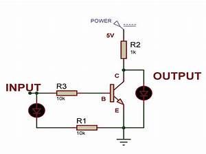 Working Of Not Gate Using Transistor