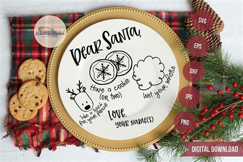 dear santa doodle cookies  santa tray  svg