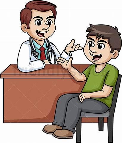 Doctor Discussing Cartoon Clipart Vector Friendlystock Wheelchair