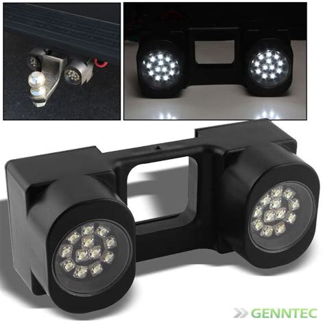 trailer truck tow hitch 24 bright white led lights