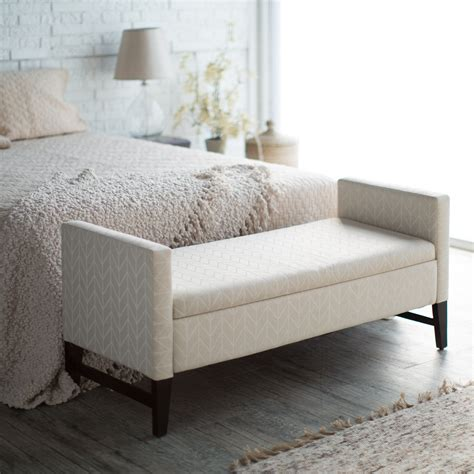 banquette de chambre belham living camille upholstered backless storage bench