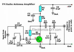 circuit zonecom electronic projects electronic With active fm antena