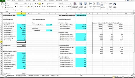 financial modeling excel templates exceltemplates