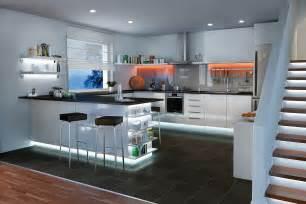 led leuchten küche küchenbeleuchtung funktional und stimmungsvoll paulmann licht