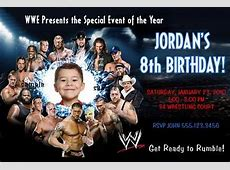 5 Best Images of Free Printable WWE Birthday Invitations