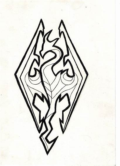 Skyrim Drawing Deviantart Fan