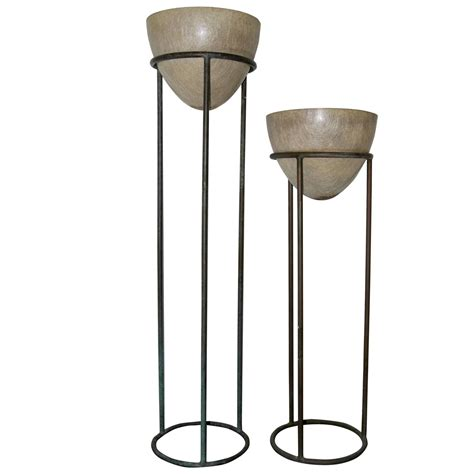 patio furniture plant stands walter bronze plant stands for sale at 1stdibs