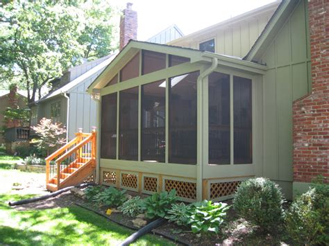 screened in porch designs screened porch archadeck of kansas city