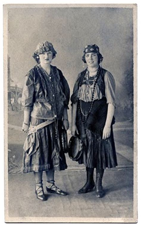 fashioned photo  ladies  gypsy costumes