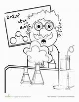 Science Coloring Pages Scientist Mad Worksheets Grade Lab Scientific Worksheet Safety Education 2nd Explosion Sheets Cartoon Preschool Chemistry Fair Books sketch template