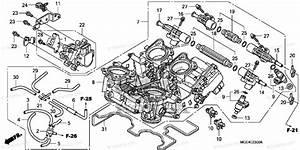 Honda Motorcycle 2013 Oem Parts Diagram For Throttle Body