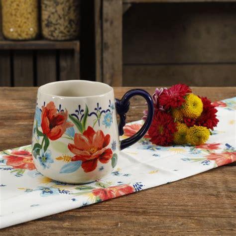 pioneer woman mug spring bouquet walmart collection 19oz stoneware oz
