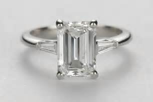 engagement rings emerald cut emerald cut engagement rings and wedding band 2 styleengagement