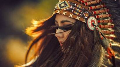 Native American Indian Wallpapers Backgrounds Headdress Female