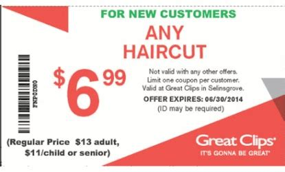 great haircut specials sports coupons 2018 mart school uniforms 4376