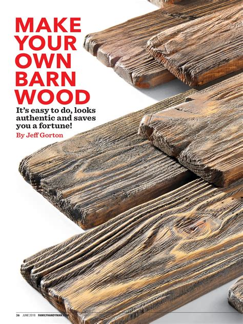 barn wood  family handyman june