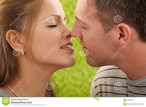 Passionate Couple Before Kiss Royalty Free Stock