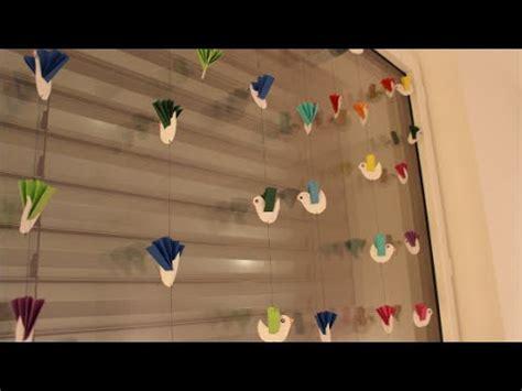 fensterdeko basteln mit kindern diy vogelgirlande window decoration birds fensterdeko basteln auch f 252 r kinder children