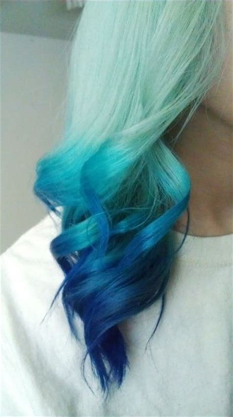 Beautifiul Blue Dip Dyed Hair I Have Wanted To Do This