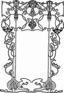 Free Vintage Image – Art Nouveau Ornate Floral Border | Oh ...