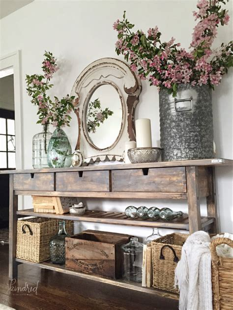 Cottage Decorating Ideas Using Buffets and Cabinets