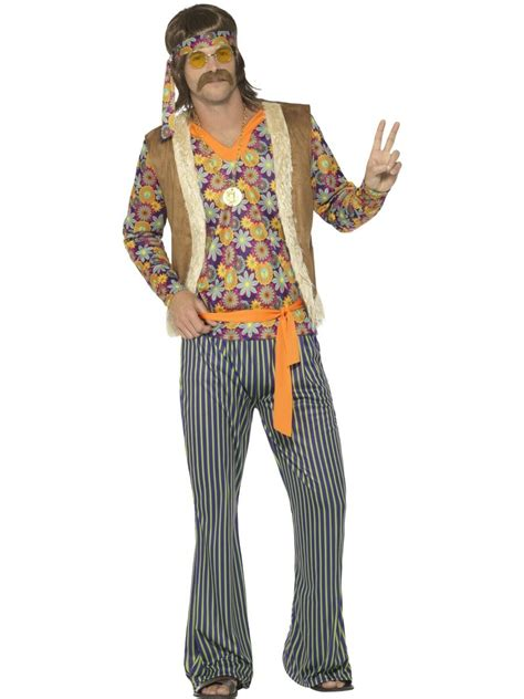 CA494 Mens Hippie Singer 1960s Costume Hippy 60s 70s Groovy Retro Groovy Outfit | eBay