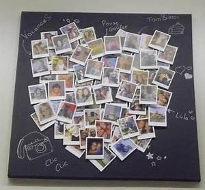 Tableau Pele Mele Photo : heart fotos story polaroid tableau couple coeur bedroom pinterest p le m le pele mele ~ Teatrodelosmanantiales.com Idées de Décoration