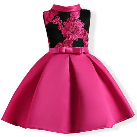 baby girl embroidery silk princess dress  wedding party