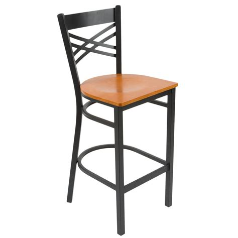 lancaster table seating cross back bar height chair with